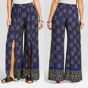 NWT | Split Front Boho Wide Leg Pants